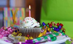 Illustration d'un gâteau d'anniversaire