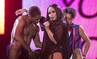 Demi Lovato en concert le 25 juin 2018 à Londres