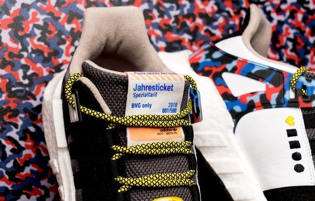Un titre de transport annuel est intégré dans la paire de sneakers.