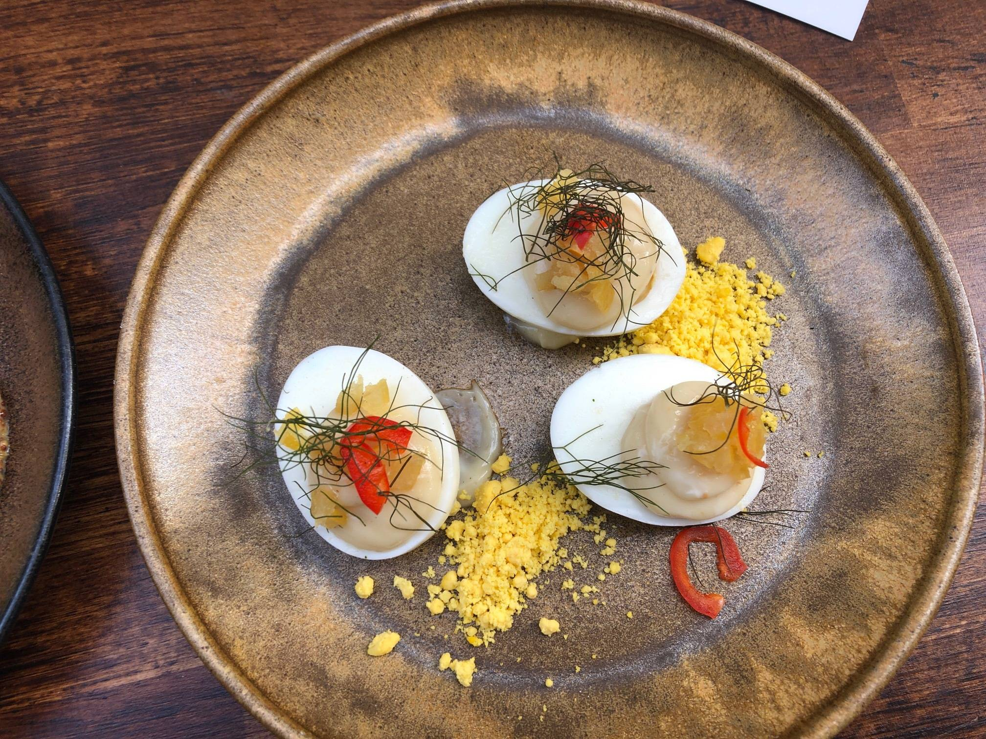 Eieren, miso mayonaise en likeur (yum)