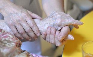 Une personne âgée dans un Ehpad. Illustration.