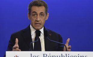 Nicolas Sarkozy prend la parole après le premier tour des régionales, le 6 décembre 2015.