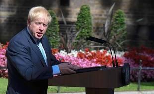Boris Johnson lors de son premier discours en tant que Premier ministre, le 24 juillet 2019, à Londres