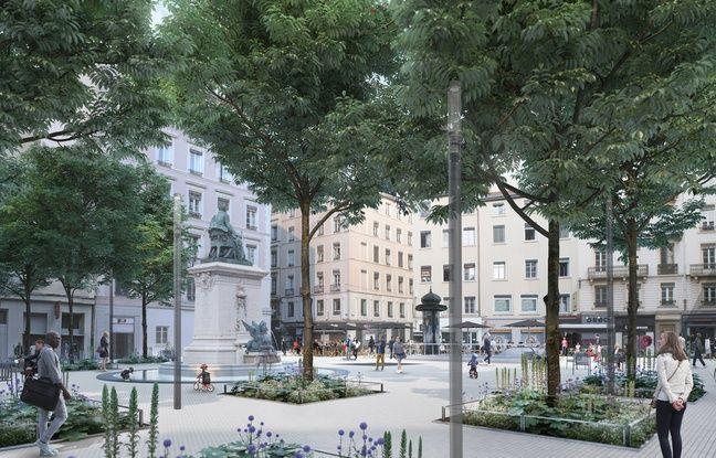 La place Ampère de Lyon deviendra une place végétalisée et entièrement piétonne