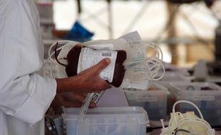 Illustration d'une collecte de sang, ici à Rennes.