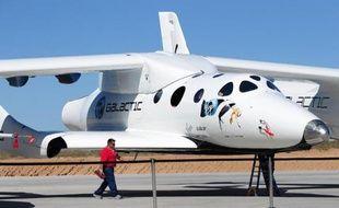 Le vaisseau spatial SpaceShipTwo à Truth or Consequences, au Nouveau-Mexique, le 17 octobre 2011