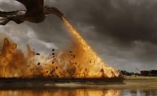 Drogon donne la mesure de sa puissance de feu dans la saison 7 de Game of Thrones