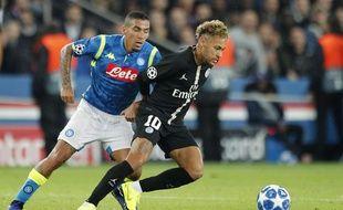 Neymar n'a pas pu faire la différence face à Naples au Parc des Princes.
