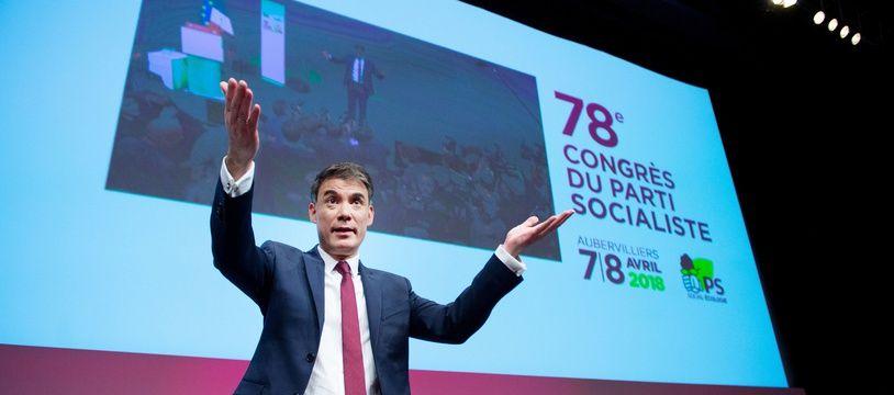 Olivier Faure, le premier secrétaire du PS, lors du congrès du PS en 2018. (archives)