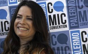Holly Marie Combs à Palermo en Italie.
