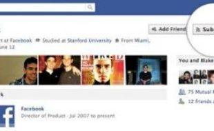Le nouveau bouton «subscribe», dévoilé par Facebook le 14 septembre 2011.
