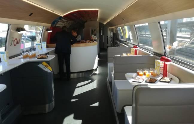 La voiture bar du TGV Océane