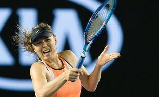 Maria Sharapova à l'Open d'Australie le 24 janvier 2016.