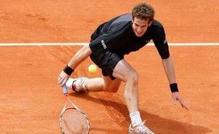 Le tennisman britannique Andy Murray, lors de son deuxième tour à Roland-Garros, face à Potito Starace, le 27 mai 2009.