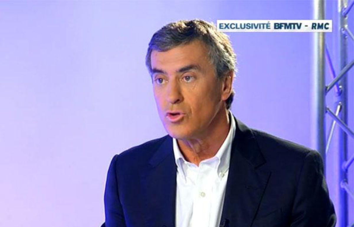 Capture d'écran BFMTV/RMC de l'entretien confession de Jérôme Cahuzac, le 16 avril 2013. – Capture d'écran 20 Minutes