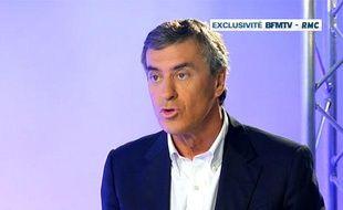 Capture d'écran BFMTV/RMC de l'entretien confession de Jérôme Cahuzac, le 16 avril 2013.