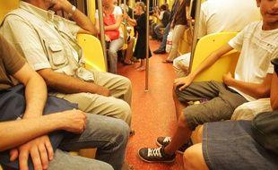 Sur la ligne B du métro
