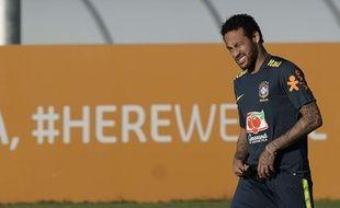 Neymar avec la sélection brésilienne.