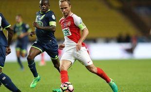 Valere Germain et Rio Mavuba lors de Monaco-Lille (Coupe de France), le 4 avril 2017.