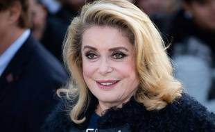 Catherine Deneuve, le 3 octobre 2017 avant le défilé Vuitton, à Paris.