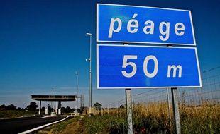 Illustration. Péage à l'entrée d'une autoroute, dans le département de l'Orne.