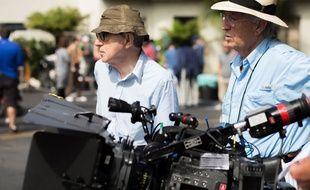 Woody Allen sur le tournage de Café Society