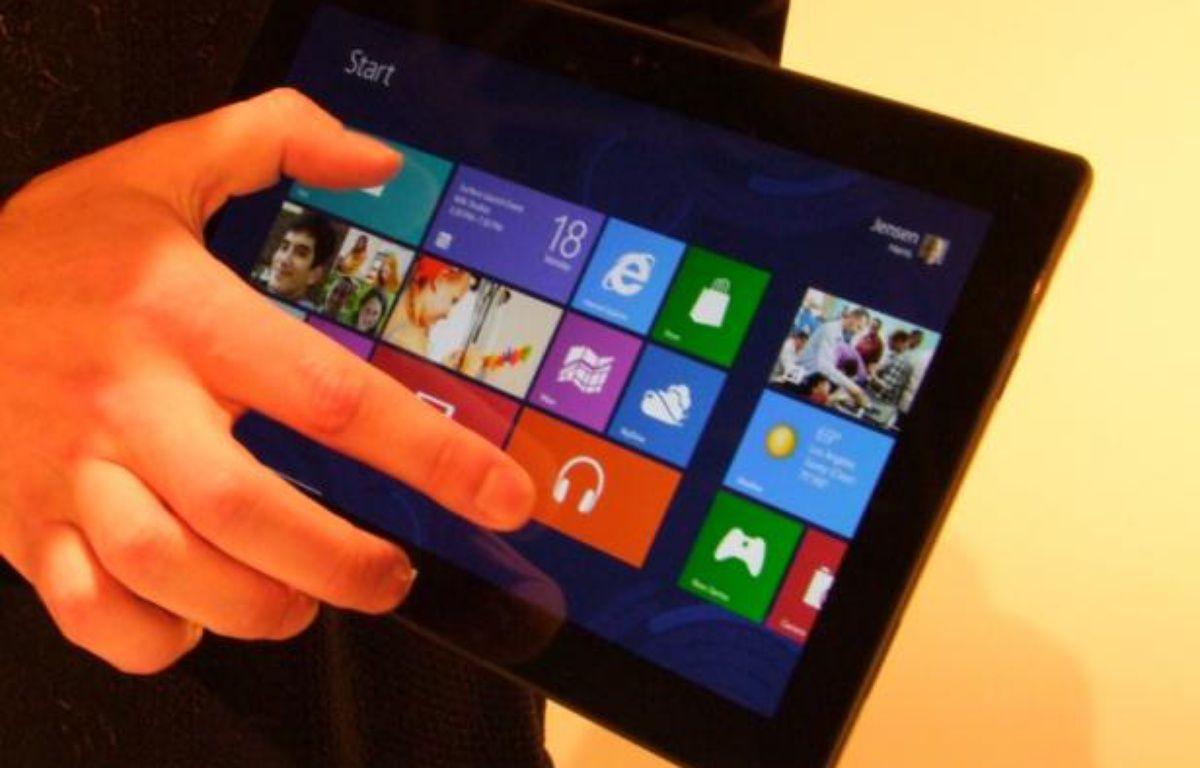 La tablette Surface de Microsoft devrait sortir à l'automne 2012. – P.BERRY/20MINUTES
