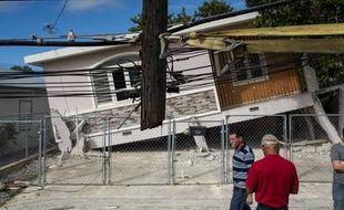 Une maison touchée par un séisme à Guanica, le 6 janvier 2020, sur l'île de Porto Rico.