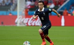 Mathieu Valbuena lors du match entre la France et le Honduras le 15 juin 2014.