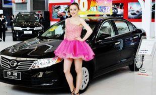 Une voiture de la marque Trumpchi présentée en Chine en 2012.