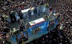 Les funérailles du général Soleimani, en Iran, le 7 janvier 2020.