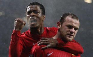 Patrice Evra et Wayne Rooney, le 29 mars 2008.