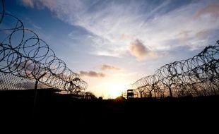 Photo prise le 9 avril 2014 lors d'une visite encadrée par l'armée américaine d'un ancien camp de détention de la base navale américaine de Guantanamo, sur l'île de Cuba