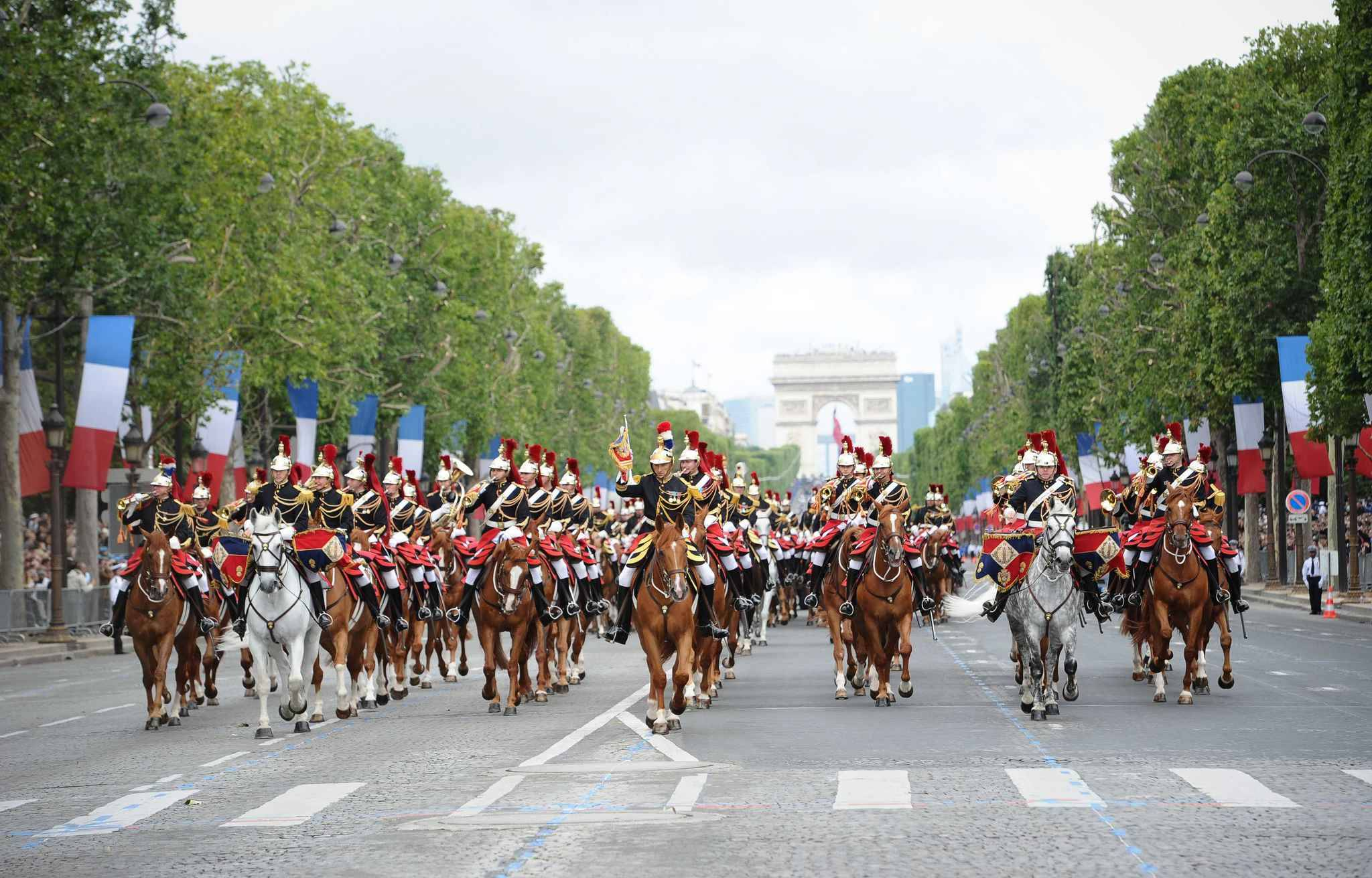 Atmopshere during 2012 Annual Military Parade at the Champs Elysees in Paris, France, on July 14, 2012.