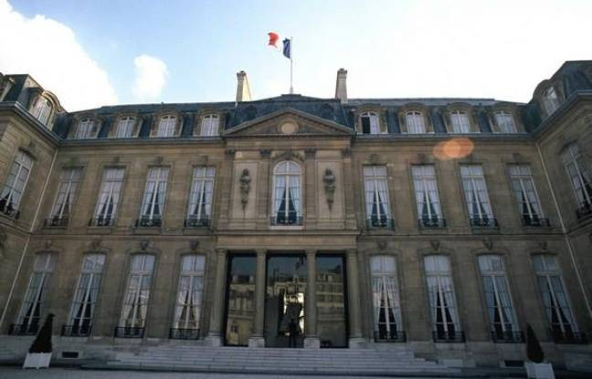 Le Palais de l'Elysée à Paris.
