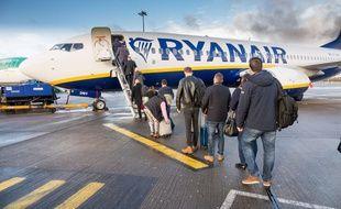 Un avion de la compagnie irlandaise Ryanair. (Illustration).