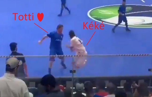 VIDEO. Il fait son otarie devant Totti, qui lui répond d'un magnifique lob en une touche de balle