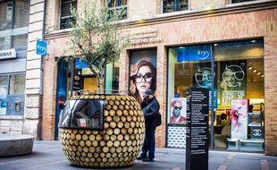 Une des oeuvres ArtistH, installées en ville jusqu'au 7 décembre.