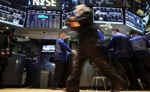 La bourse de New york, le 25 août 2015
