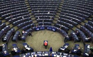 Le Parlement européen de Strasbourg durant le discours d'Ursula von der Leyen, mercredi.