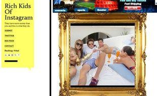 Capture d'écran du Tumblr «Rich Kids of Instagram».