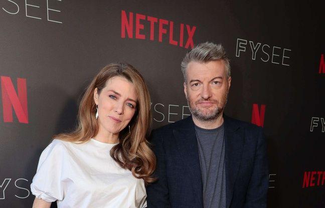 La productrice et le créateur de «Black Mirror», Annabel Jones et Charlie Brooker à Los Angeles en juin 2018.