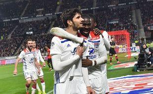 La joie du buteur Martin Terrier qui a délivré les siens en toute fin de rencontre face à Rennes.