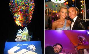 Jean-Claude Jitrois et Sarah Marshall étaient de la partie lors de la fête d'ouverture organisée par Pixar à Cannes, le 13 mai 2009.