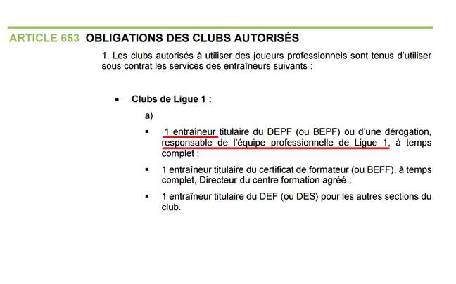 Charte de la LFP