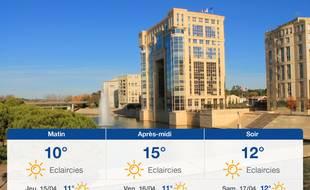 Météo Montpellier: Prévisions du mercredi 14 avril 2021