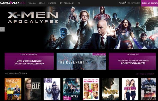 CanalPlay VOD, l'une des 13 plateformes françaises qui participent à la Fête de la VOD.