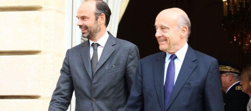 Alain Juppé et Edouard Philippe, le 20 octobre 2017 à l'hôtel de ville de Bordeaux