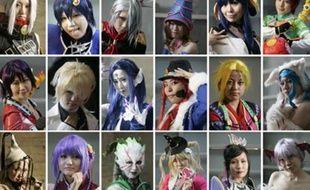 Des cosplayers japonais, au Tokyo Game Show, le 11 octobre 2008.  Pour les dernières news sur les jeux vidéo, cliquez ici...