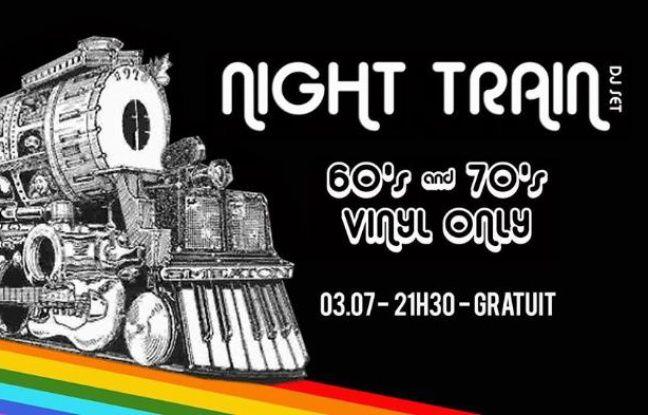 Train multicolore pour illustrer la soirée old school Night Train